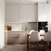 Gold&White small kitchen
