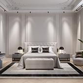интерьер, дизайн, спальный, 3d max, corona, ps.