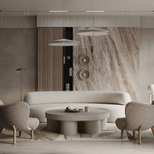Soft minimal living room