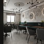 Первый вариант: небольшой кофейни одного из небольших городов Украины.