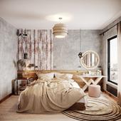 Дизайн и визуализация спальни для молодой семьи г. Москва