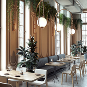 3d visualization  restaurant THE Y (сделано по референсу)