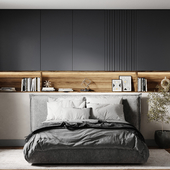 Спальня в монохромных цветах