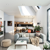 Living room with Vitra Sofa Modular two-Seaters