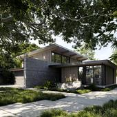 The Sanctuary. Palo Alto. California. Feldman Architecture (сделано по референсу)