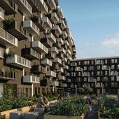 Визуализация современного жилого комплекса в Монреале (Канада)