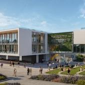 Визуализация современного кампуса в Нетивот, Израиль