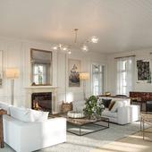 Детальная визуализация дома в Нью-Йорке (США)