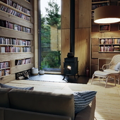 Library in the forest