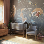 Детская комната с прекрасными фотообоями