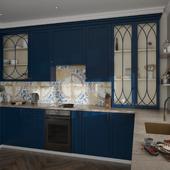 Кухня в синих тонах