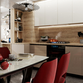 Прооект кухни совмещённой с балконом.
