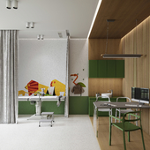 Childrens clinic and playing area