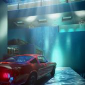 Deep wave pool