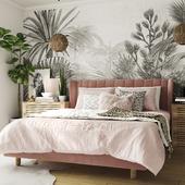 Визуализация розовой спальни (сделано по референсу)