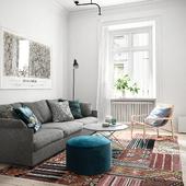 Scandinavian Living room (сделано по референсу)