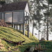 Cabin House in the Forest