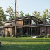 Prairie style villa