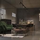 Интерьер офиса 84 м2. Современной строительной компании.  г. Курск