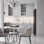 Дизайн квартиры 84 м2