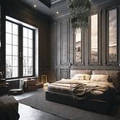 Dark Bedroom(сделано по референсу)