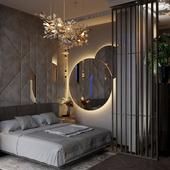 Визуализация спальни в Москва-Сити