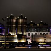 Night lights of the RAILWAY STATION