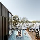 Lemay Michaud designs minimal Strøm Nordic Spa in Quebec City (сделано по референсу)