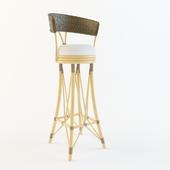 барный стул плетеный