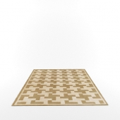 Houndstooth rug by Emily Todhunter