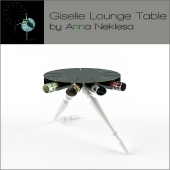 Ballet Inspired Giselle Lounge Table by Anna Neklesa