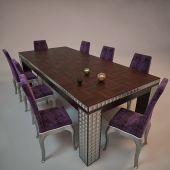 checker dining table
