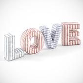 Объёмные буквы из ткани
