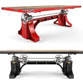 Vintage Industrial Bronx Crank Table
