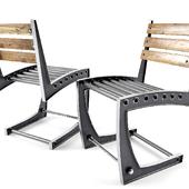 Vintage Industrial Zen Chair