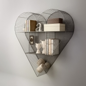 Полка Heart Zinc от Restoration hardware