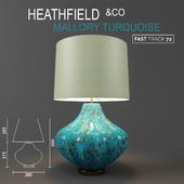 Настольный светильник HEATHFIELD & Co Mallory Turquoise