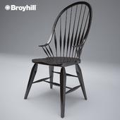 Broyhill rustic windsor arm chair