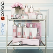 Приставной столик с косметикой / Table with cosmetic set