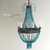Turquoise Beads Six-Light Chandelier