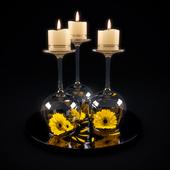 Декоративные романтические свечи