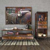 Винтажный набор мебели с декором