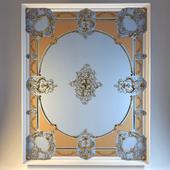 Потолок с элементами лепного декора