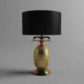 Silver & Gold Pineapple Lamp