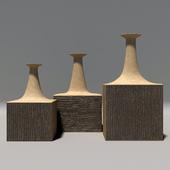 Set of Three Vessels by Bruno Gambone