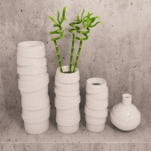 Vases and bamboo set