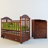 Кровать и комод Атон мебель