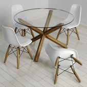 "Обеденный стол ""Saskia"" и стул ""Eiffel"""