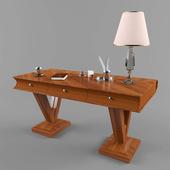 Стол в виде книги Capranelli и настольный декор