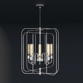 High Pendant Lamp in Polished Nickel Finish